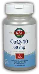 DROPPED: Kal - CoQ-10 60 mg. - 60 Softgels