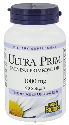 DROPPED: Natural Factors - Ultra Prim Evening Primrose Oil 1000 mg. - 90 Softgels CLEARANCE PRICED