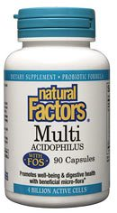 DROPPED: Natural Factors - MultiAcidophilus with FOS 4 Billion Active Cells Non-Dairy - 60 Capsules