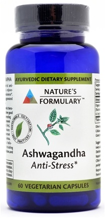 DROPPED: Nature's Formulary - Ashwagandha - 60 Vegetarian Capsules CLEARANCE PRICED