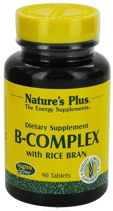 DROPPED: Nature's Plus - B-Complex with Rice Bran - 90 Tablets CLEARANCE PRICED