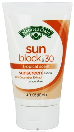 DROPPED: Nature's Gate - Sunscreen Lotion Sun Block Tropical Scent 30 SPF - 4 oz.
