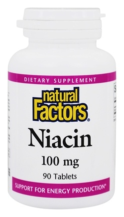 Natural Factors - Niacin 100 mg. - 90 Tablets