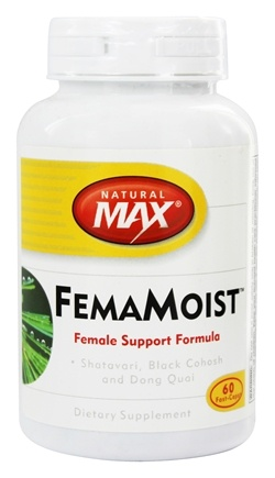 DROPPED: Natural Max - FemaMoist Female Support Formula - 60 Capsules