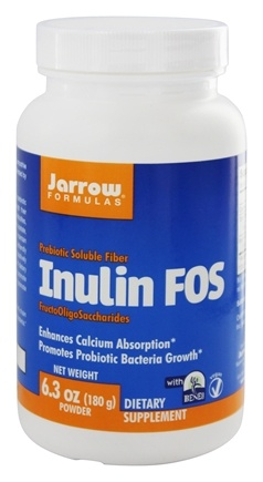 Jarrow Formulas - Inulin and Prebiotic Soluble Fiber Powder - 180 Grams