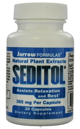 DROPPED: Jarrow Formulas - Seditol Natural Plant Extracts 365 mg. - 30 Capsules