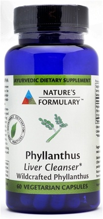 DROPPED: Nature's Formulary - Phyllanthus Liver Function - 60 Vegetarian Capsules CLEARANCE PRICED