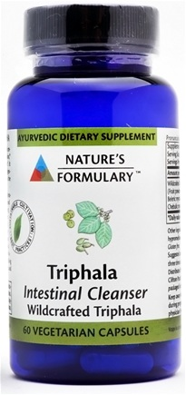 DROPPED: Nature's Formulary - Triphala Internal Cleansing - 60 Vegetarian Capsules CLEARANCE PRICED