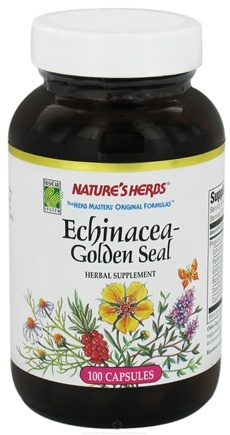 DROPPED: Nature's Herbs - Echinacea-Golden Seal Combination - 100 Capsules CLEARANCE PRICED