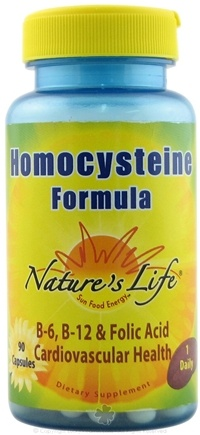 DROPPED: Nature's Life - Homocysteine Formula - 90 Capsules