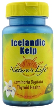 DROPPED: Nature's Life - Icelandic Kelp Thyroid Health - 250 Tablets