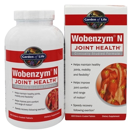 Garden of Life - Wobenzym N Healthy Inflammation and Joint Support - 800 Enteric-Coated Tablets (Formerly distributed by Mucos)