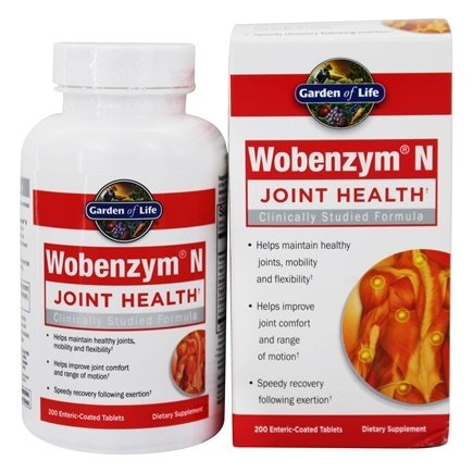 Garden of Life - Wobenzym N Healthy Inflammation and Joint Support - 200 Enteric-Coated Tablets (formerly distributed by Mucos)