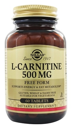 Solgar - L-Carnitine Free Form 500 mg. - 60 Tablets