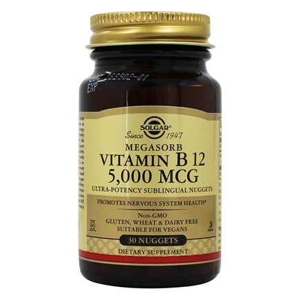 Zoom View - Megasorb Vitamin B12 With Dibencozide (Coenzyme B 12)
