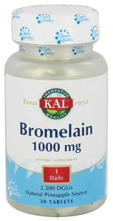 DROPPED: Kal - Bromelain Natural Pineapple Source 1000 mg. - 30 Tablets CLEARANCE PRICED