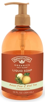 DROPPED: Nature's Gate - Liquid Soap Organics Fruit Blend Asian Pear & Red Tea - 12 oz. CLEARANCE PRICED