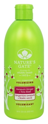 Nature's Gate - Vegan Conditioner Volumizing Awapuhi Ginger + Holy Basil - 18 oz.