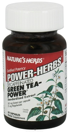 DROPPED: Nature's Herbs - Green Tea-Power (Caff Fr) - 60 Capsules CLEARANCE PRICED