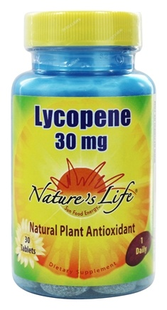 DROPPED: Nature's Life - Lycopene 30 mg. - 30 Tablets