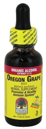 DROPPED: Nature's Answer - Oregon Grape Root Organic Alcohol - 1 oz. CLEARANCE PRICED