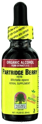 DROPPED: Nature's Answer - Partridge Berry Organic Alcohol CLEARANCE PRICED - 1 oz.