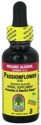 DROPPED: Nature's Answer - Passion Flower Herb Organic Alcohol - 1 oz. CLEARANCED PRICED
