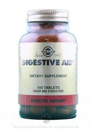 DROPPED: Solgar - Digestive Aid Tablets - 100 Tablets