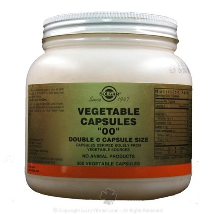 DROPPED: Solgar - Vegetable Capsules 00 Capsule Size - 500 Vegetarian Capsules