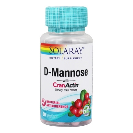 Solaray - D-Mannose With CranActin - 60 Vegetarian Capsules