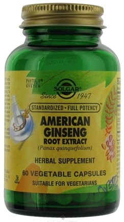 DROPPED: Solgar - American Ginseng Root Extract - 60 Vegetarian Capsules