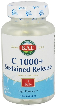 DROPPED: Kal - C 1000+ Sustained Release - 100 Tablets CLEARANCE PRICED