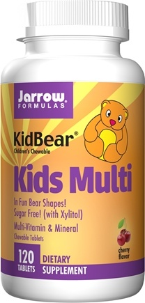 DROPPED: Jarrow Formulas - KidBear Kids Multi-Vitamin & Mineral Cherry - 120 Chewable Tablets