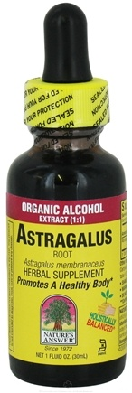 DROPPED: Nature's Answer - Astragalus Root Organic Alcohol - 1 oz. CLEARANCE PRICED