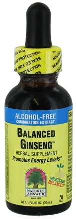 DROPPED: Nature's Answer - Balanced Ginseng Alcohol Free - 1 oz.