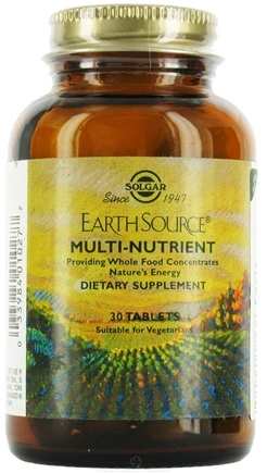 DROPPED: Solgar - Earth Source Multi-Nutrient Providing Whole Foods - 30 Tablets