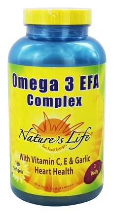 DROPPED: Nature's Life - Omega 3 EFA Complex - 180 Softgels
