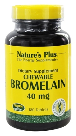 Nature's Plus - Chewable Bromelain (600 GDU/gram) 40 mg. - 180 Tablets