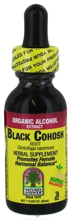 DROPPED: Nature's Answer - Black Cohosh Root Organic Alcohol - 1 oz. CLEARANCE PRICED