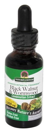 Nature's Answer - Black Walnut & Wormwood Alcohol Free - 1 oz.