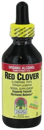 DROPPED: Nature's Answer - Red Clover Flowering Tops Organic Alcohol - 2 oz.