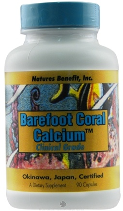 DROPPED: Nature's Benefit - Barefoot Coral Calcium - 90 Capsules