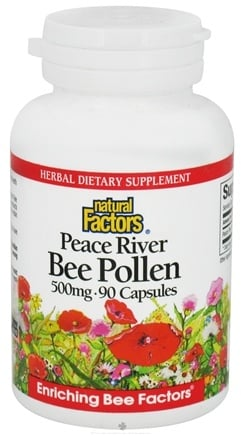 DROPPED: Natural Factors - Peace River Bee Pollen 500 mg. - 90 Capsules CLEARANCE PRICED