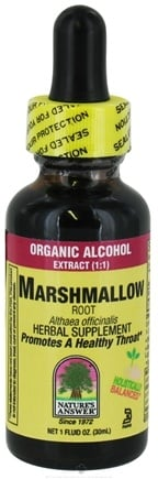 DROPPED: Nature's Answer - Marshmallow Root Organic Alcohol - 1 oz. CLEARANCED PRICED