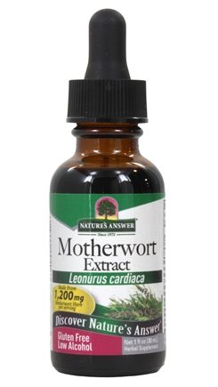 Nature's Answer - Motherwort Herb Organic Alcohol - 1 oz.