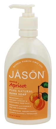 JASON Natural Products - Satin Hand Soap Apricot - 16 oz.