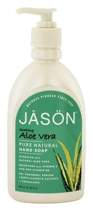 JASON Natural Products - Satin Hand Soap Natural Aloe Vera - 16 oz.