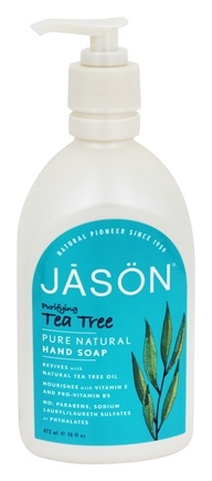 JASON Natural Products - Satin Hand Soap Tea Tree - 16 oz.