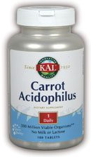 DROPPED: Kal - Carrot Acidophilus - 180 Capsules