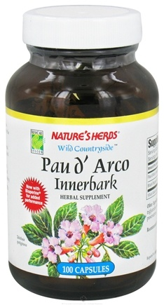 DROPPED: Nature's Herbs - Pau D'Arco Inner Bark - 100 Capsules CLEARANCE PRICED